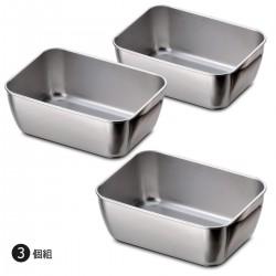 下村企販 長方型 不銹鋼 料理盤 (一套三個)
