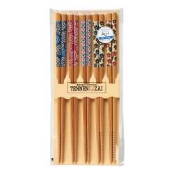 【現貨】TENNEN ZAI 竹製銀抗菌筷子(5對入)