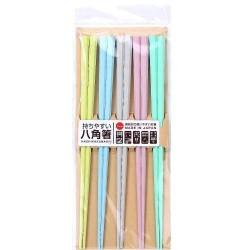 【現貨】八角筷子 (5色入) [Pastel Color]