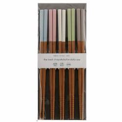 Pastel Color 抗菌 竹製筷子 (5對入)