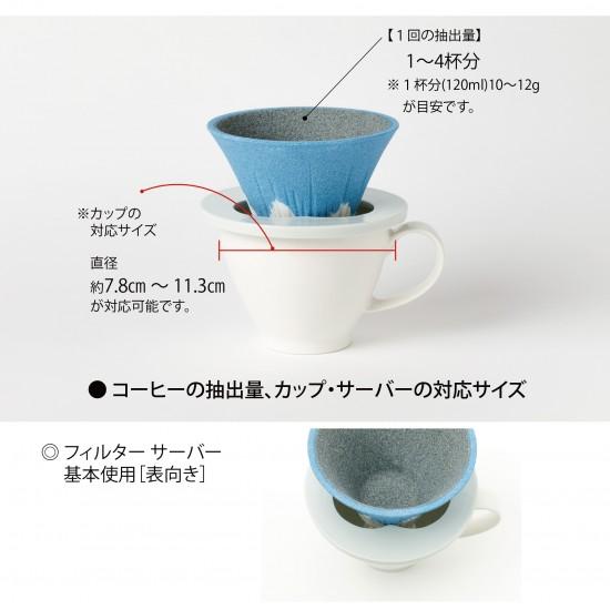 【現貨】COFIL 富士山 陶瓷咖啡過濾器 [Pink]