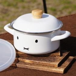 富士琺瑯 HoneyWare Miffy 15cm 雙耳鍋子 (連膠蓋)