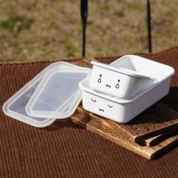 富士琺瑯 HoneyWare Miffy 食物盒 (2個裝 連膠蓋) [淺型]
