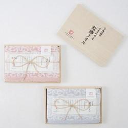 今治謹製 波浪紋織毛巾 連木盒 [1×面巾]