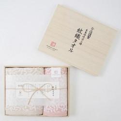 今治謹製 波浪紋織毛巾 連木盒 [1×面巾, 1×手巾]