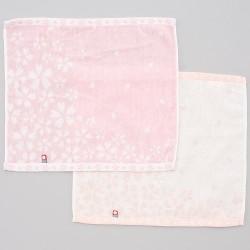 今治謹製 櫻花紋織毛巾 連木盒 [2×方巾 set]