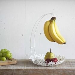 山崎實業 Natura系列 水果香蕉架 [白色]